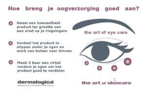 Aanbrengen oogverzorging