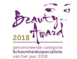 Beauty Award Schoonheidsspecialiste van het jaar 2018 | Mieke Kok The art of Skincare Soest