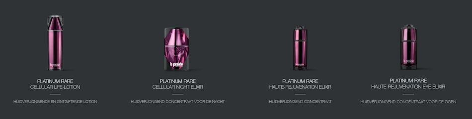 Producten La Prairie Platinum Rare Haute-Rejuvenation Collection Ultieme Verjonging collectie november 2020