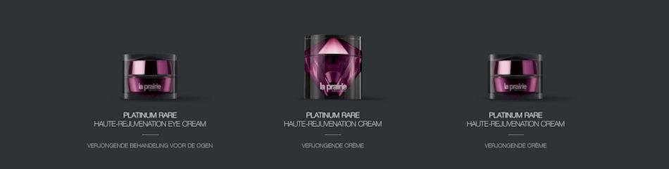 Te koop La Prairie Platinum Rare Haute-Rejuvenation Collection Ultieme Verjonging collectie november 2020